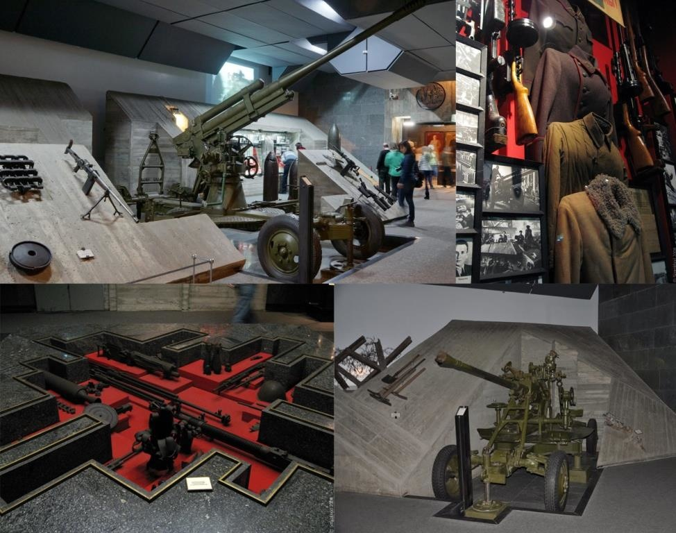 Exhibits in the Stalingrad battle museum