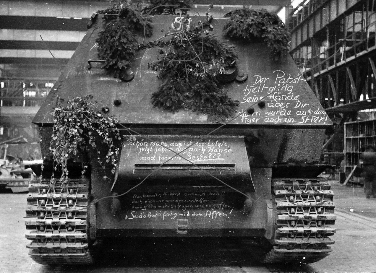 "Last produced on the ""Nibelungwerke"" Ferdinand. Summer 1943"