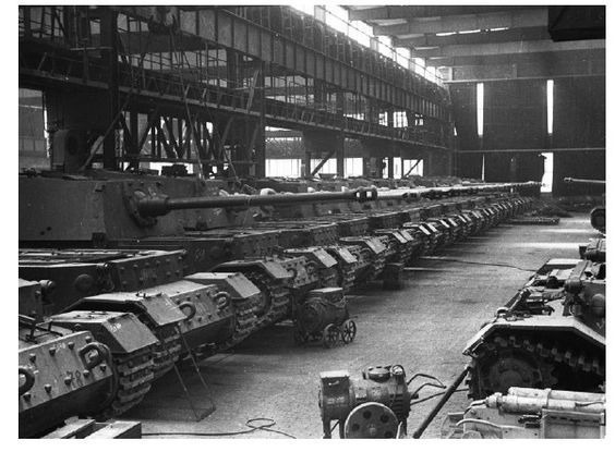 Ready-made tank destroyers before being sent to the front. Until June 1943, 91 Ferdinand \ Elephant