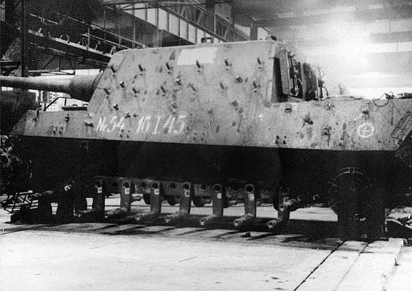 "Chassis number ""54"", January 1945. Until the end of the war, they managed to create 79 chassis in va"