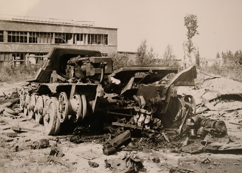 Destroyed Jagdtiger in the vicinity of St. Valentine, 1945