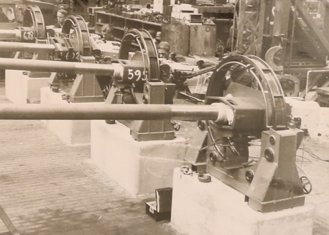 "Processing gun barrels on ""Pz. 4"""