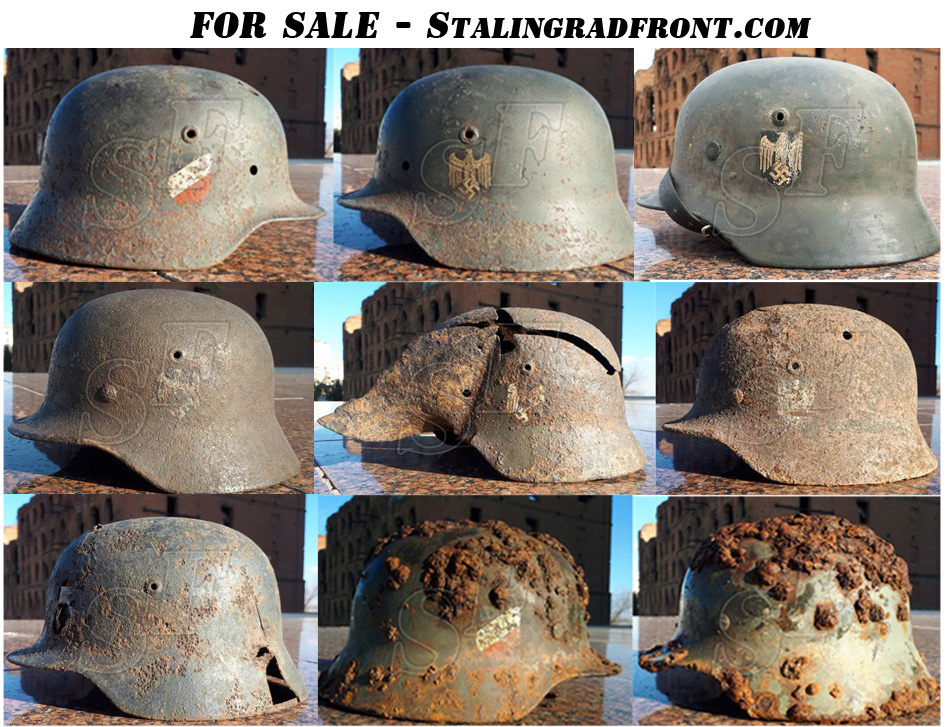 New Wehrmacht helmets from Stalingrad