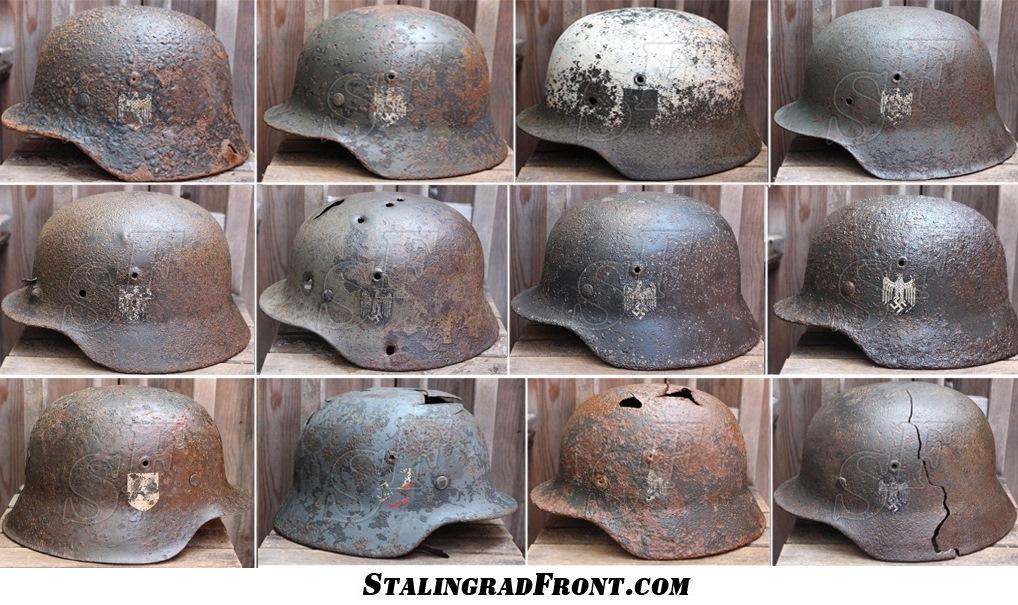 New WW2 german helmets for sale!