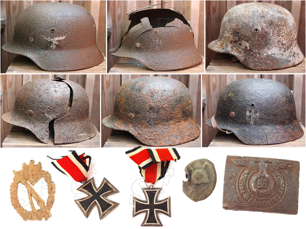 Waffen-SS, М38 paratrooper and children's helmet of 3 Reich for sale