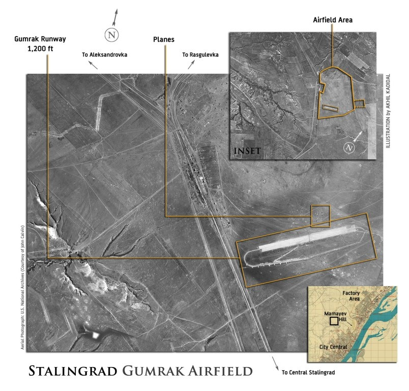 Gumrak Airgfield map, 1942.