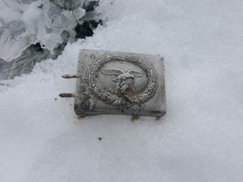 Buckle Luftwaffe – found in one of pits at big depth