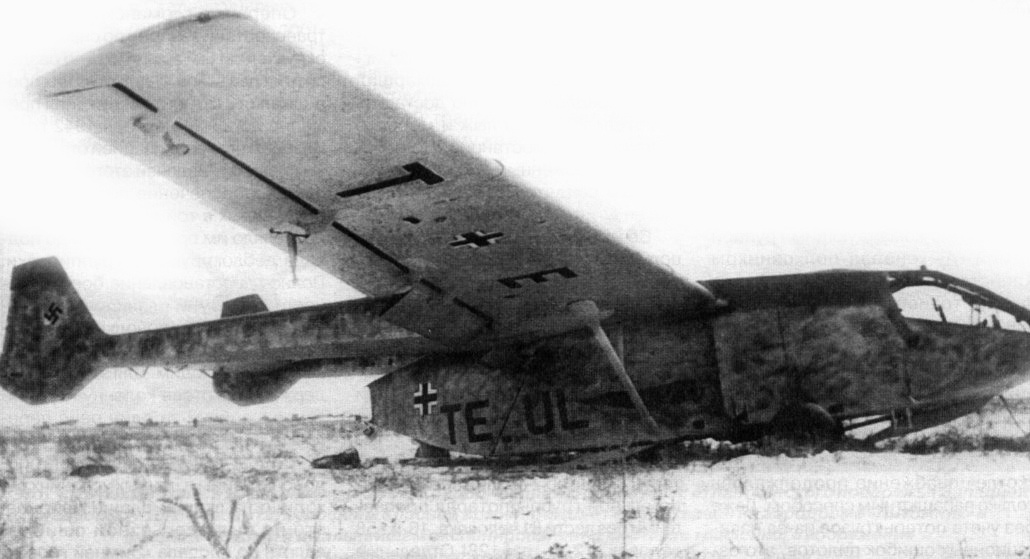 Matchbox Go242B2 captured by Soviet troops in February 1943 at Pitomnik airfield
