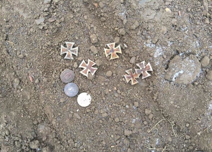 1st class iron crosses found on Mamayev Hill