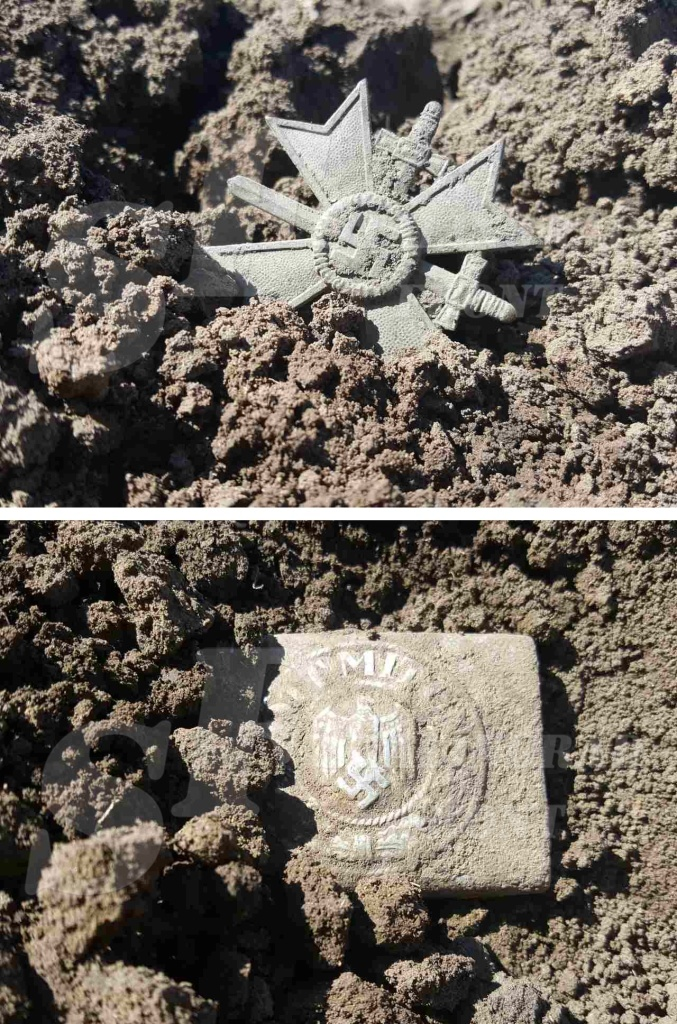 "War Merit Cross and Buckle ""Got Mit Uns"" – found by the stalingradfront.com at Stalingrad"