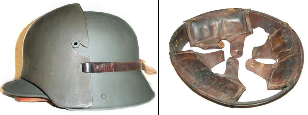 German helmet M16 with a headrest plate