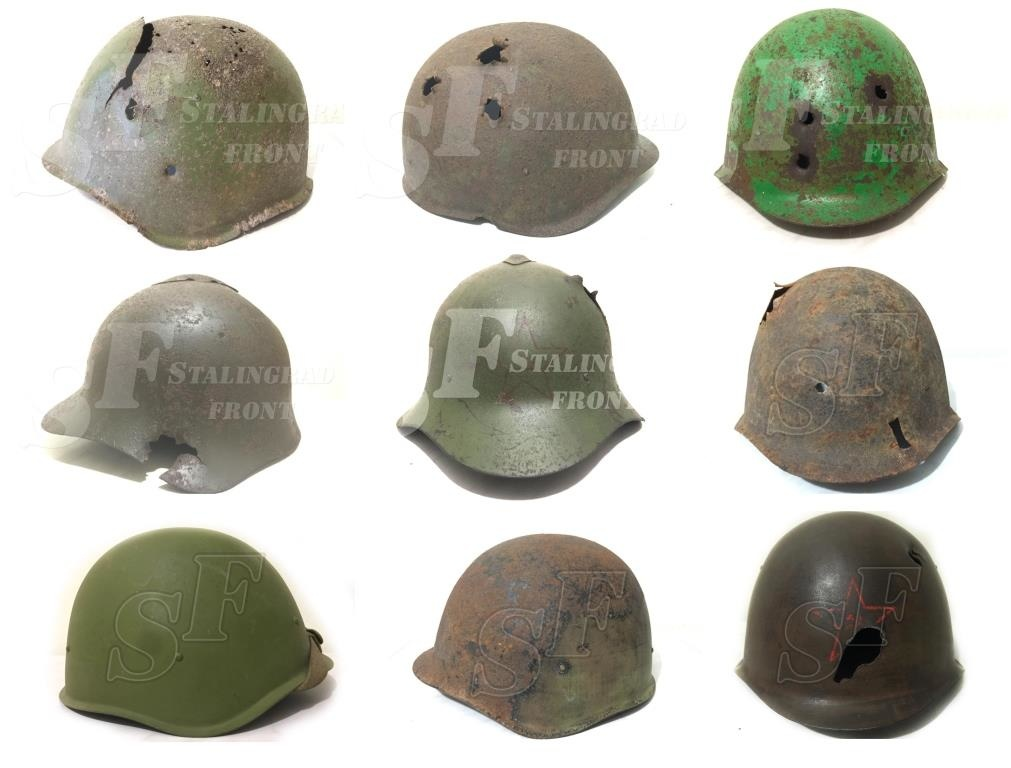 Big collection of Soviet helmets of the WW2 period on sale