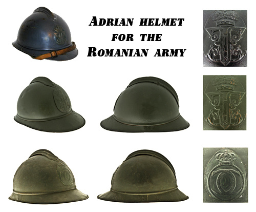 Helm Model 1916 for Romanian Army