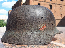 German helmet М35 from airfield Gumrak (Stalingrad region)