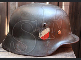 German helmet М35 from village Zapadnovka