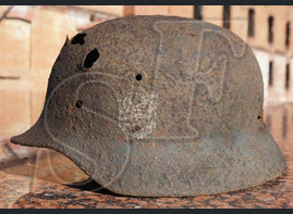 German helmet M40 from Gorodishche district of Stalingrad