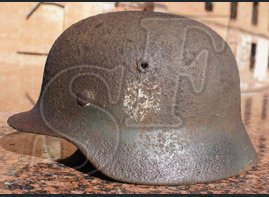 German helmet M40 from village of Novoalekseevskaya