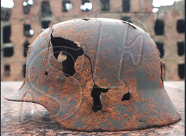 German helmet M35 from village Ezhovka, Stalingrad region