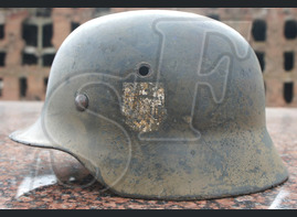 German helmet M35 from Koenigsberg