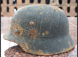 German helmet M35 from Leningrad region