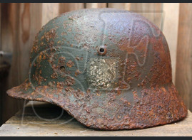 German helmet M35 from Stalingrad