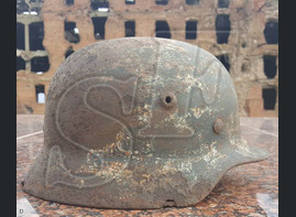 German helmet M40 / Stalingrad region
