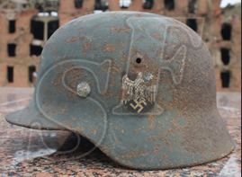 German helmet M35 / Stalingrad region
