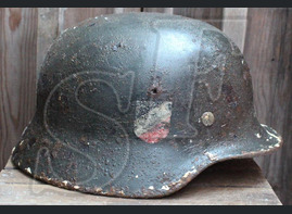 German helmet M35 / from Kursk