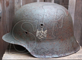 German helmet M42 / from Velikiye Luki