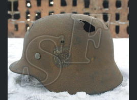 German helmet M40, Wehrmacht / from Stalingrad