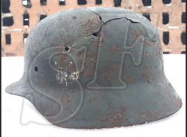 German helmet М35 / from Stalingrad