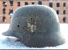 German steel helmet M35 from village of Stepnoy