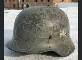 "German helmet M35 ""Double decal"" / from Stalingrad"