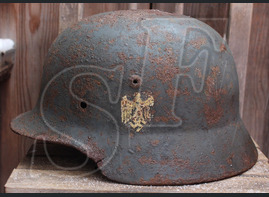 German helmet M35 / from Rostov