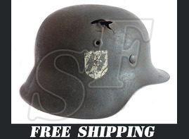 German helmet M40 / Estonian battalion of 5th SS Panzer Division Wiking