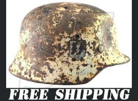 Helmet M35 of 6th SS Mountain Division Nord / from Karelia