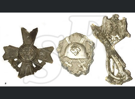 War Merit Cross + Infantry Assault Badge + Wound Badge