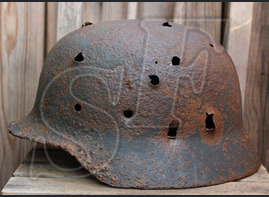 German helmet M35 / from Smolensk