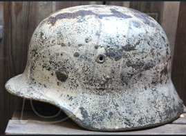 Winter camo helmet M40 / from Pskov