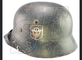 WW2 original restored and replica helmets, desk gear, tableware