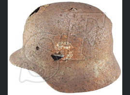 German helmet M35 / from Koenigsberg