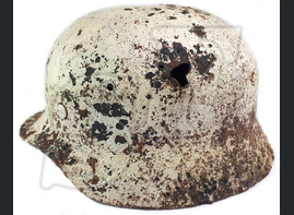 Winter camo helmet М40 / from Stalingrad