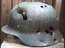 German helmet М35 / from Karelia