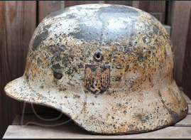 Winter camo helmet М40 with decal / from Smolensk