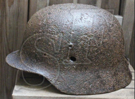 German helmet М35 / from Velikiye Luki