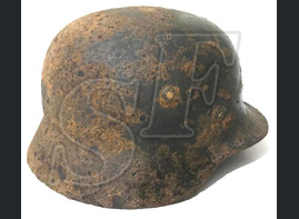German helmet М35 / from Leningrad