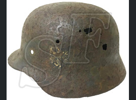 German helmet М40 / from Kalmykia