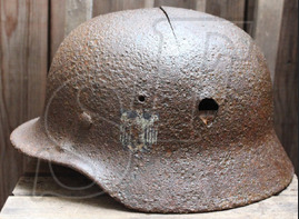 Wehrmacht helmet M40 / from Rostov-on-Don