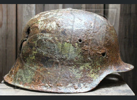 German helmet M42 / from Leningrad