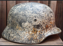 Winter camo helmet M35 / from Velikiye Luki